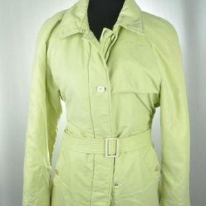 Loro Piana Italian Soft Lime Belted Jacket